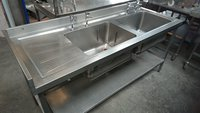 Used Stainless Steel Double Bowl Sink (4244)