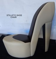 2x Large Stiletto Shoe Chairs