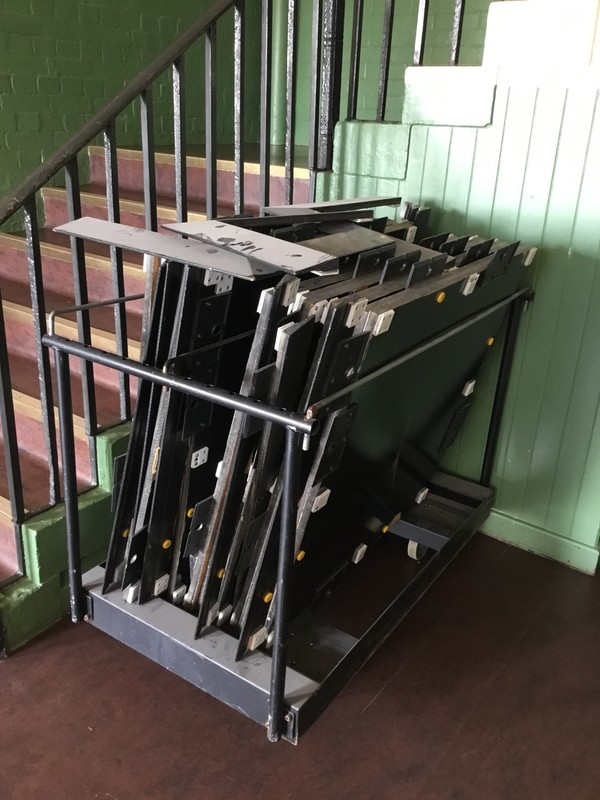 Secondhand dance floor and trolley for sale
