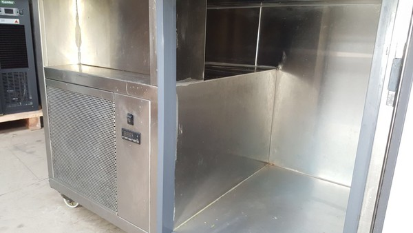 Stainless steel fridge freezer combo