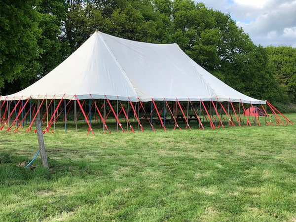 40ft x 60ft Canvas Traditional Marquee