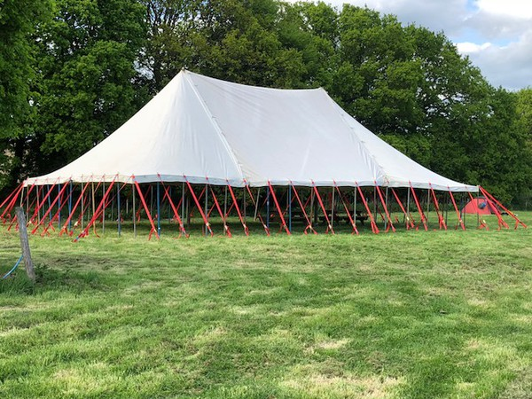 Used 40ft x 60ft Canvas Traditional Marquee