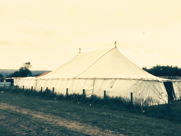 Canvas 30ft x 50ft Marquee with walls