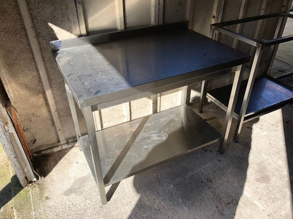 Acme Stainless Steel Table with 1 Shelf