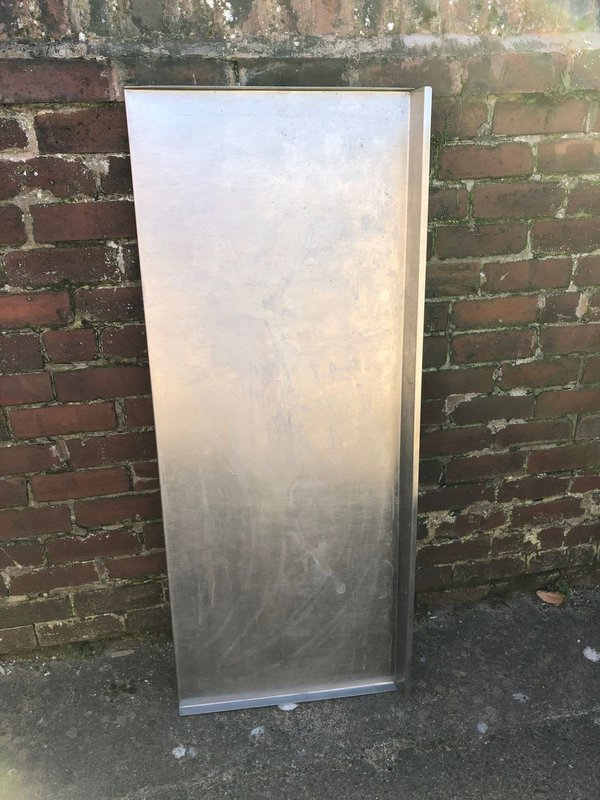 Stainless steel prep table top