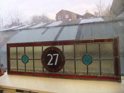 Overhead traditional glass window