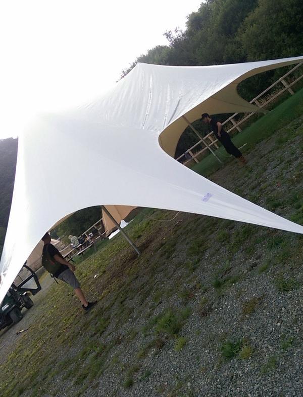Stretch tent canopy