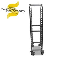 Stainless steel gastronome trolley