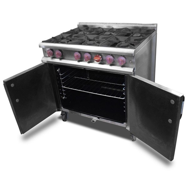 Buy 6 burner gas oven