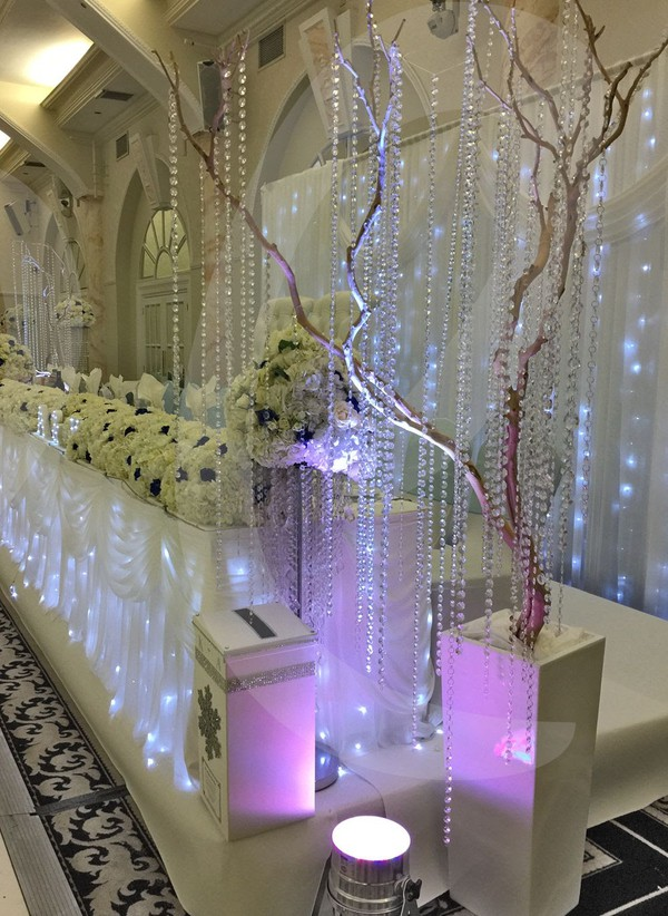 Wedding decor trees with flowers