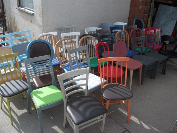 Mixed coloured chairs for sale