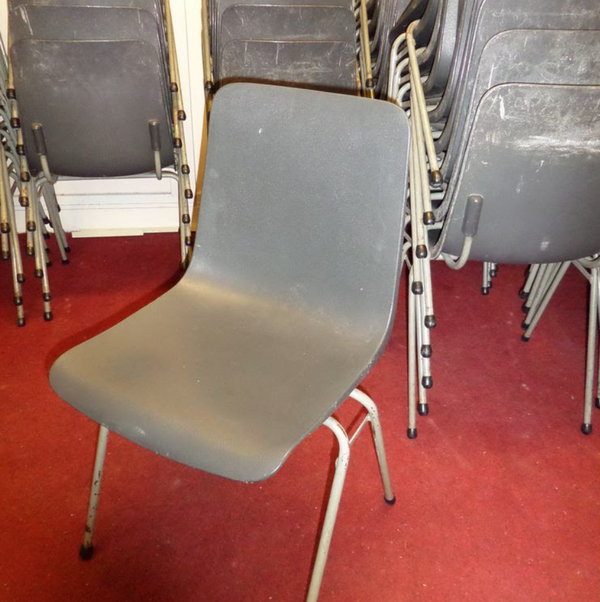 Hard grey plastic chairs for sale