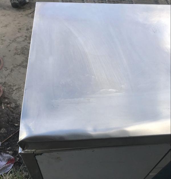 Used stainless steel prep fridge
