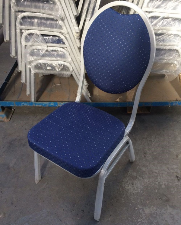 Steel banqueting chairs