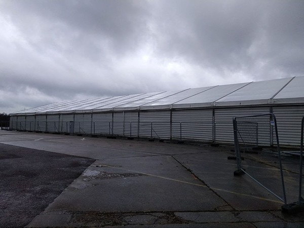 Large storage warehouse framed marquee for sale