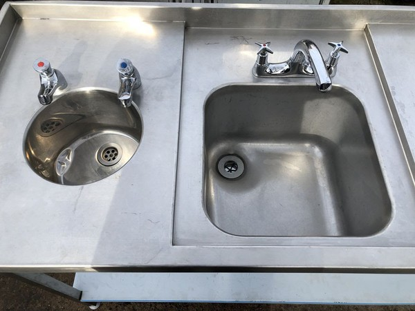 Secondhand triple sink