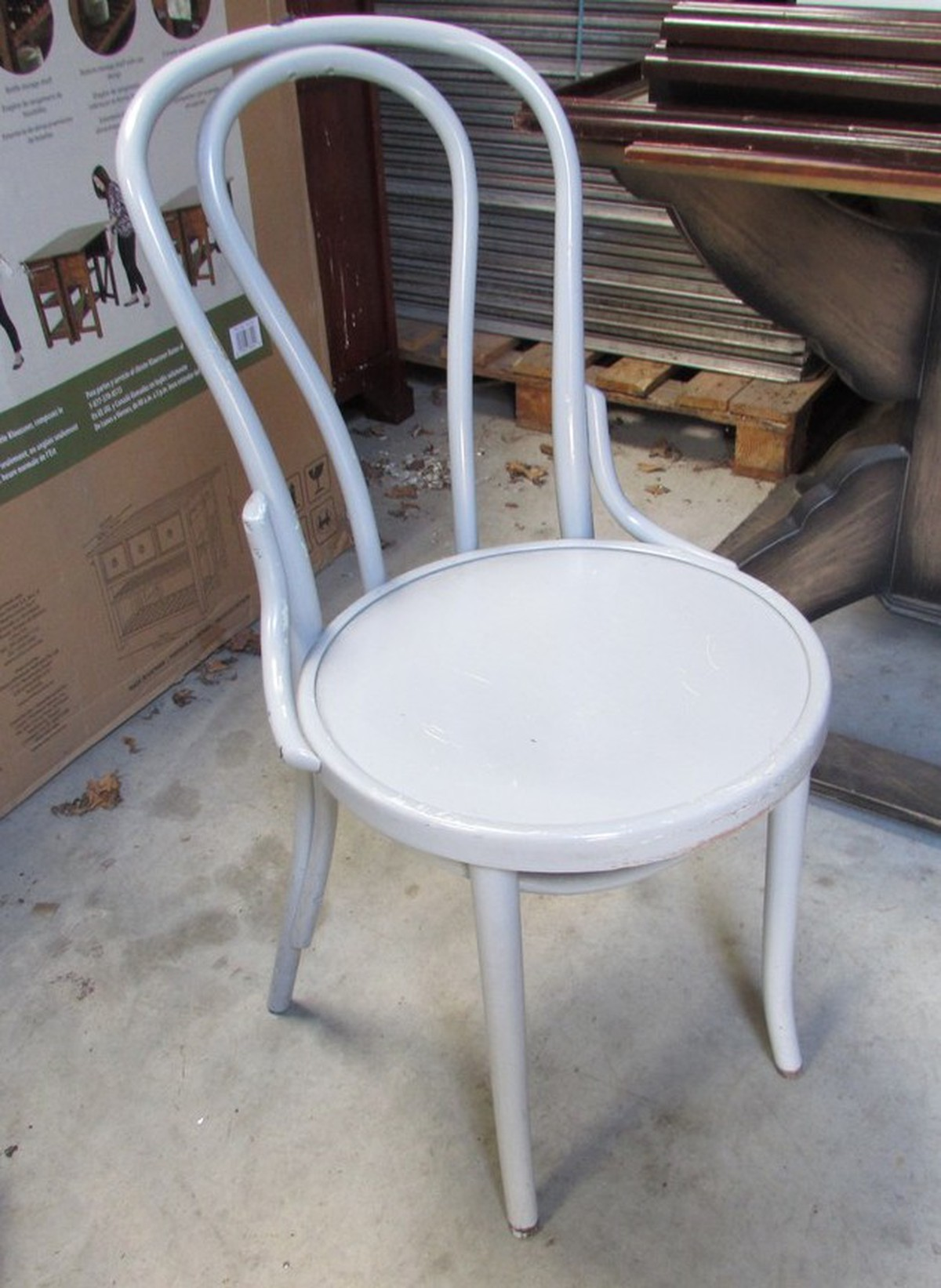 secondhand chairs and tables cafe or bistro chairs 35x painted