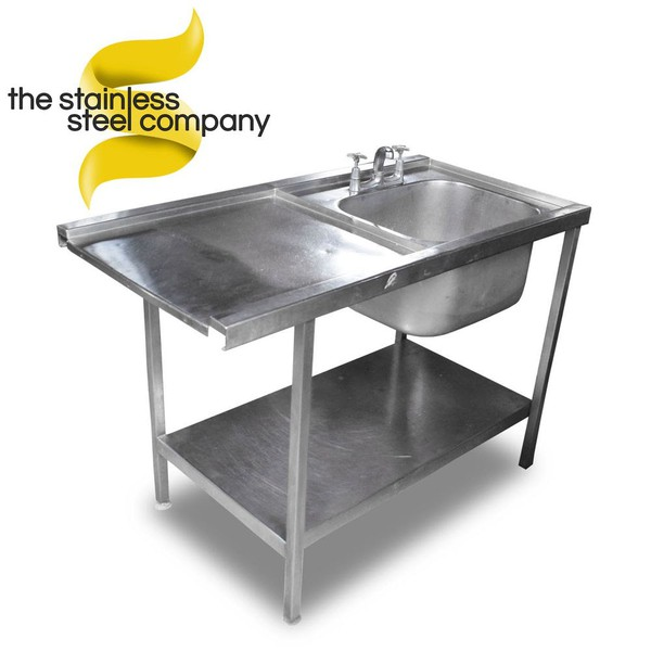 1.2m Stainless Steel Single Bowl Sink