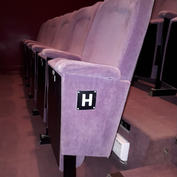 Rows of theatre seats for sale