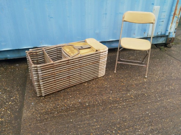 416x Samsonite Chair Gold / Gilt - Kent
