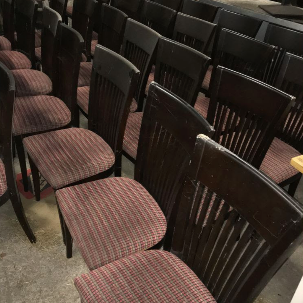 Secondhand pub equipment chairs dining