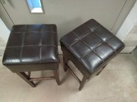 Brown faux leather stools for sale