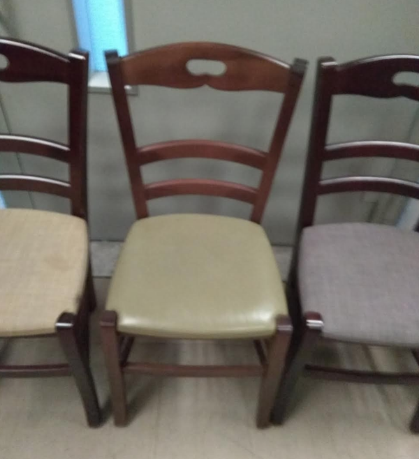 Secondhand bistro chairs