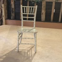 Limewash banqueting chairs