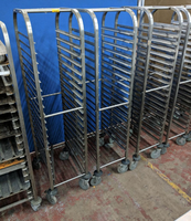 Commercial stainless steel tray racking