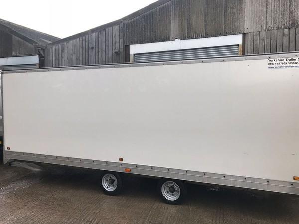 Twin axle box trailer for sale