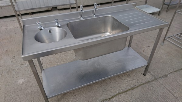 double kitchen sinks for sale secondhand catering equipment sinks and dishwashers 8810