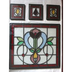Double glazing stained windows