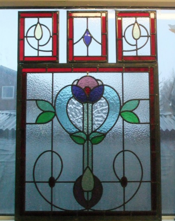 Glazing of staing glass windows