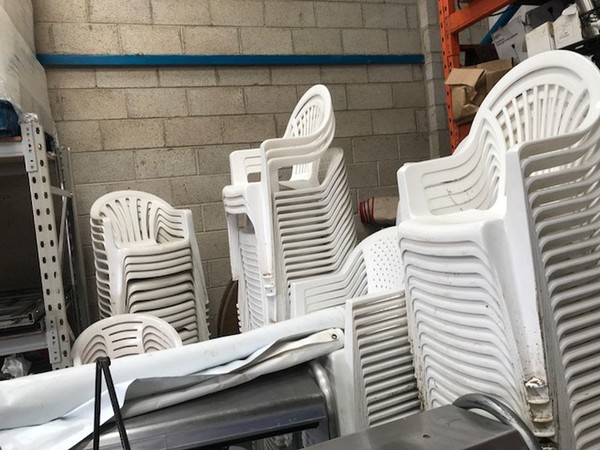 Secondhand plastic chairs