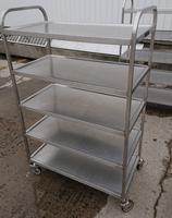 Stainless steel 5 tier trolley
