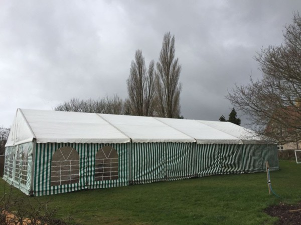 Secondhand standard form marquee