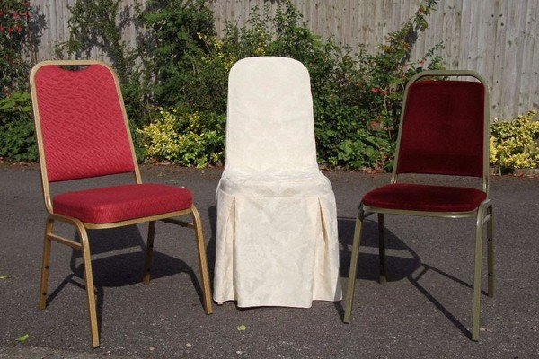 Marquee chairs with covers for sale
