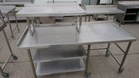 Stainless steel gantry shelf table