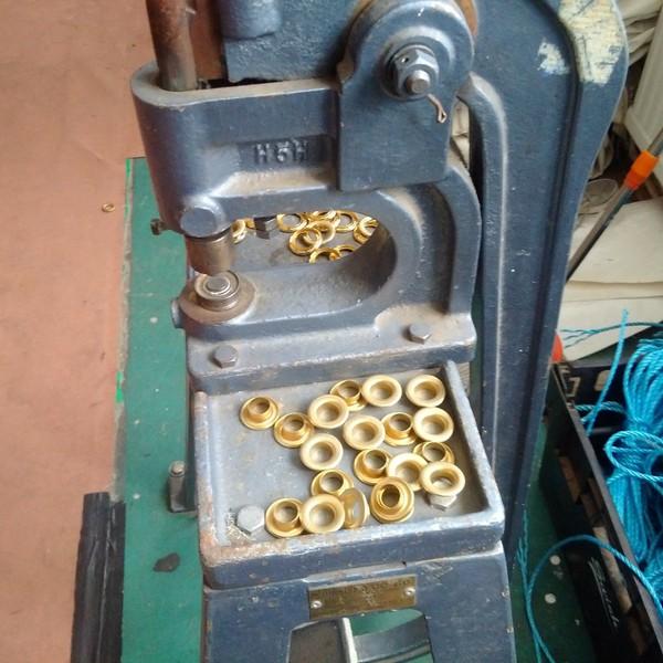 PVC eyelet machine