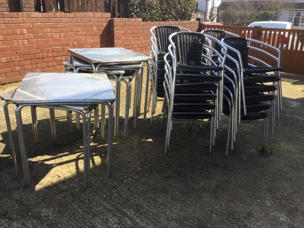 Outdoor tables and chairs for sale