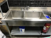 Prep table and sinks