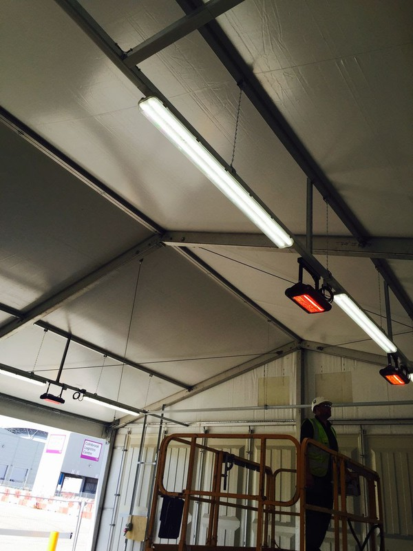 Marquee heating and lighting