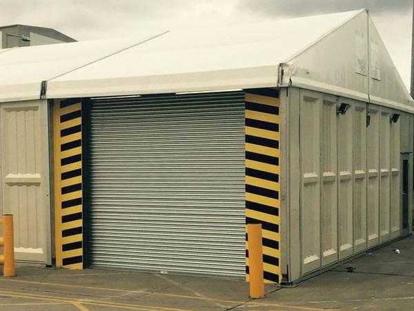 Marquee roller shutter door