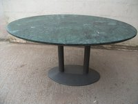 Marble Topped Oval Table