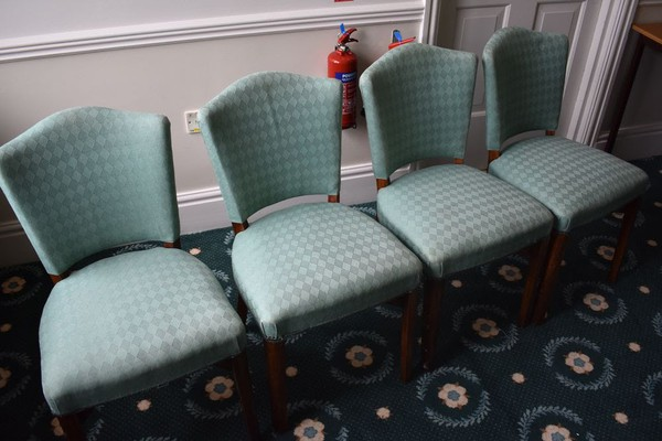 Green banqueting chairs for sale