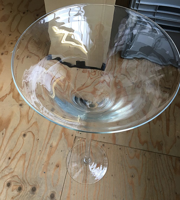 Used martini glasses