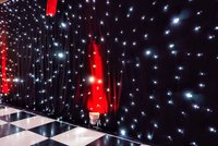 Black LED star cloth for sale