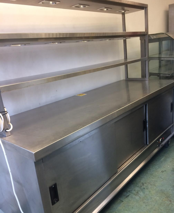 Heated gantry hot cupboard unit for sale
