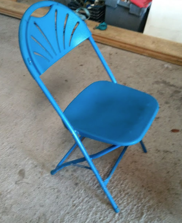 Blue folding chairs for sale