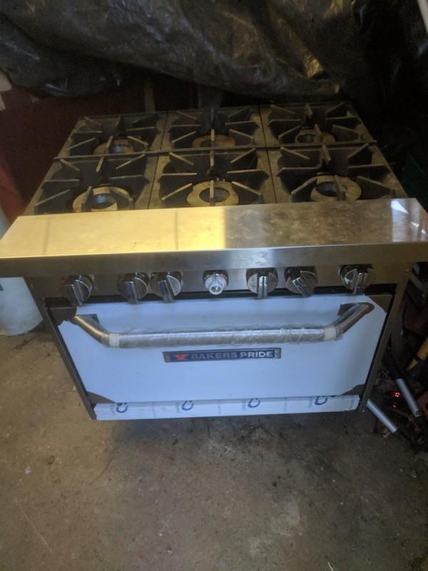 Baker's Pride 6 Burner Natural Gas Oven